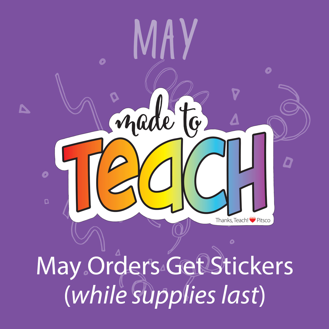 May Orders Get Stickers